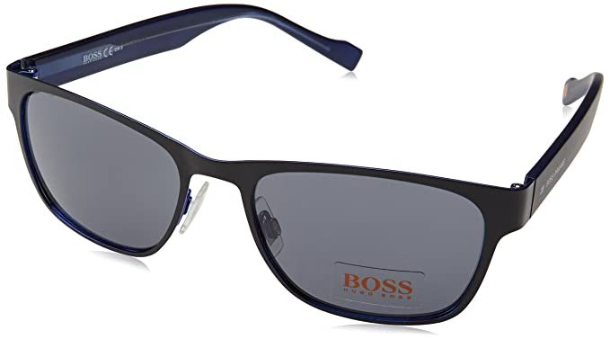 Boss Orange Herren BO 0177/S BN JOD Sonnenbrille, Schwarz (Black Blue/Dark Grey), 55