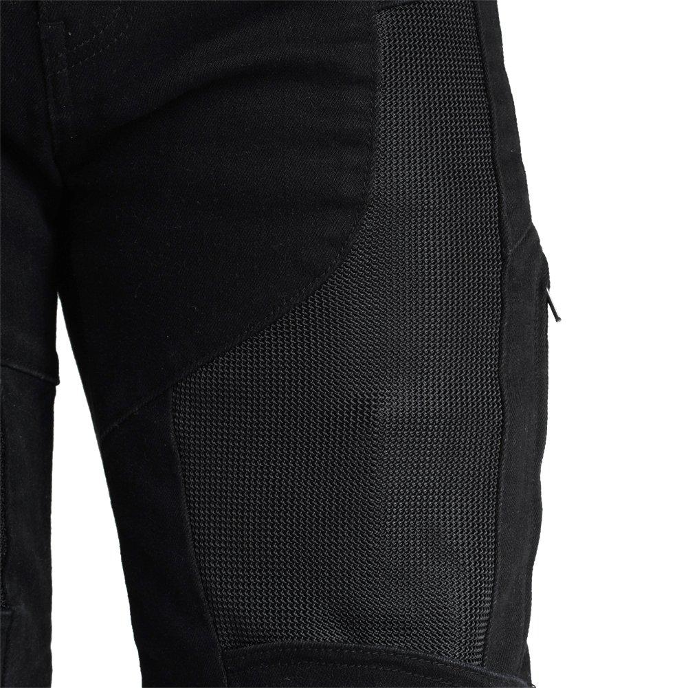 MAXLER JEAN Biker Jeans for men Motorcycle Motorbike riding kevlar Jeans 1614 for summer Black 32 by Maxlerjean (Image #4)