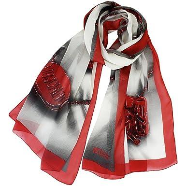 Moschino - Echarpe - Femme rouge noir Taille unique  Amazon.fr ... b90299d2bb57