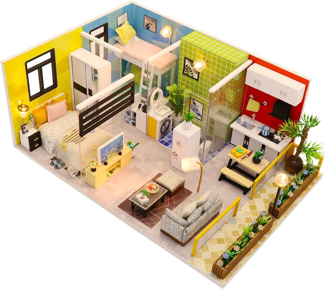 Monarca. Simple Life. DIY Miniature Dollhouse Kit – Mini House Making Kit with Miniature Dollhouse Accessories – Tiny House Building Kit – Ideal Doll House for Kids and Grown Ups