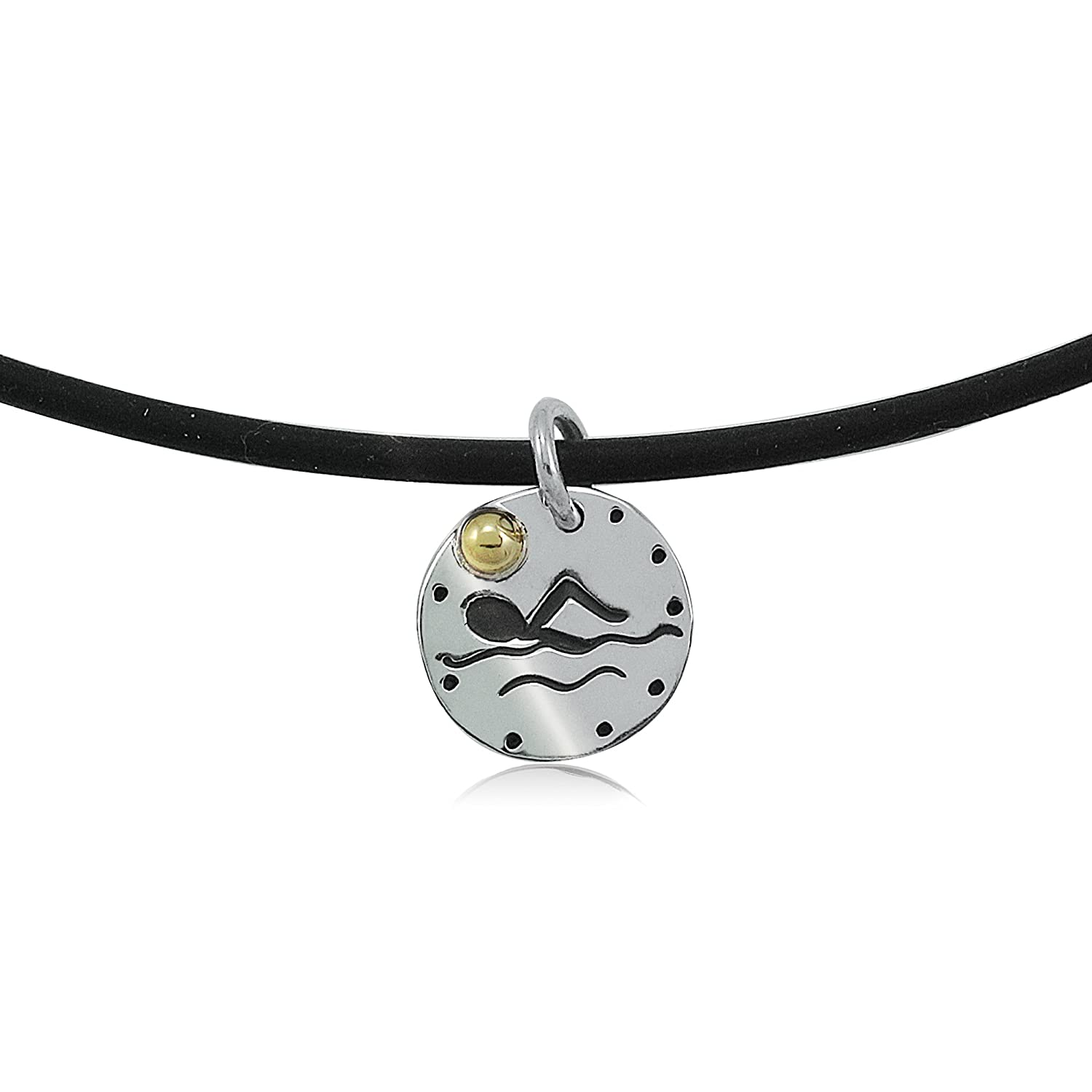 1//2 Sterling Silver Sunny Swimmer Necklace