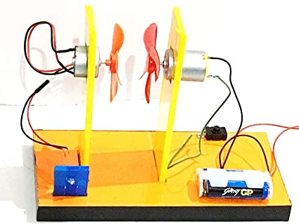 buy project hubtm -electric generator |energy wind turbine |power mini led  education dc motor | wind power generation experiment diy kit (100 %  working )