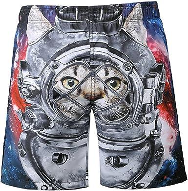 MVPKK Pantalones Cortos de Algodón Hombre Pantalones Cortos Gato ...