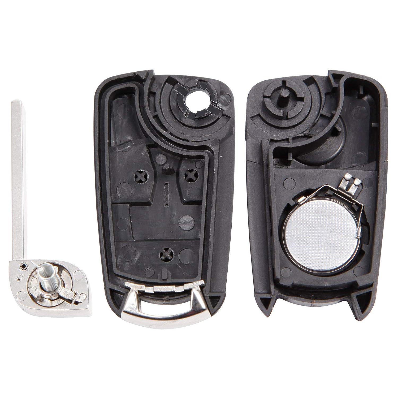 Coque avec Pile 2 Boutons Ouverture Fermeture pour CLE telecommande Opel