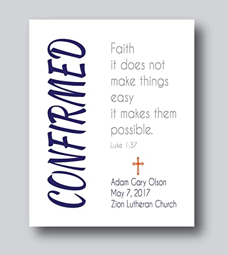 Personalized Confirmation Gifts For Boys First Communion Gifts For Boys 8x10 or 11x14 Print Only First Communion Gifts For Girls Confirmation Present  sc 1 st  Amazon.com & Amazon.com: Personalized Confirmation Gifts For Boys First ...