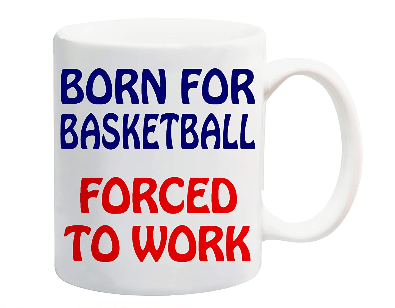 Born para de baloncesto forzado a trabajar taza diseño de muñeco ...