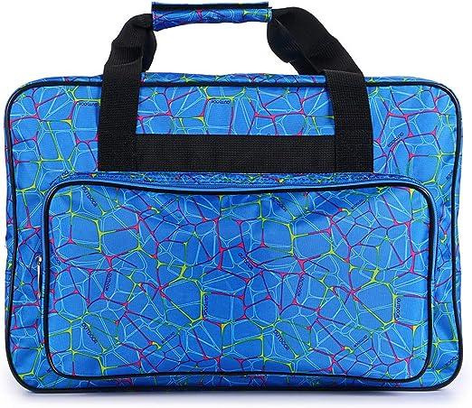 SUMNACON - Bolsa de Transporte para máquina de Coser portátil, Gran Capacidad, Color Azul: Amazon.es: Hogar