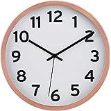 "Amazon Basics 12"" Numbered Wall Clock, Copper"