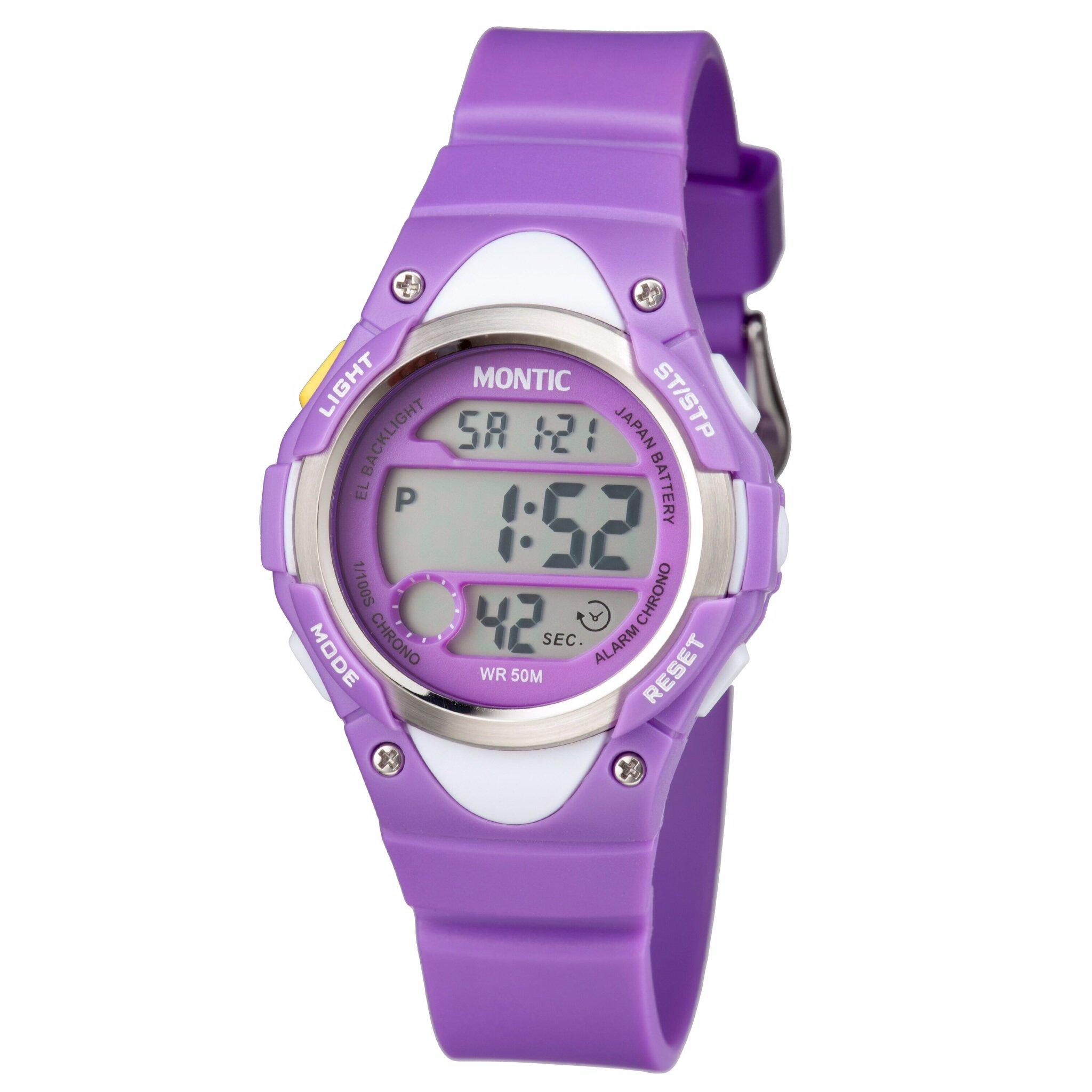 Montic Girls Watch Digital Multi Function Sports Waterproof Watch