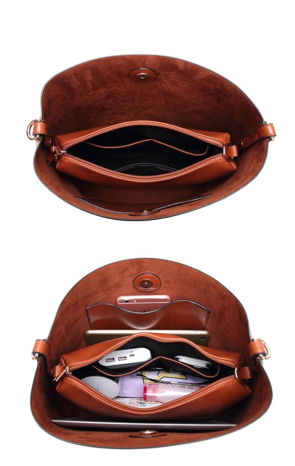 Women Handbags Designer Ladies Satchel Hobo Bags Tote PU Leather Handbags Shoulder Purse by BragBag (Image #7)