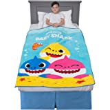 "Franco Kids Bedding Super Soft Plush Throw, 46"" x 60"", Baby Shark"