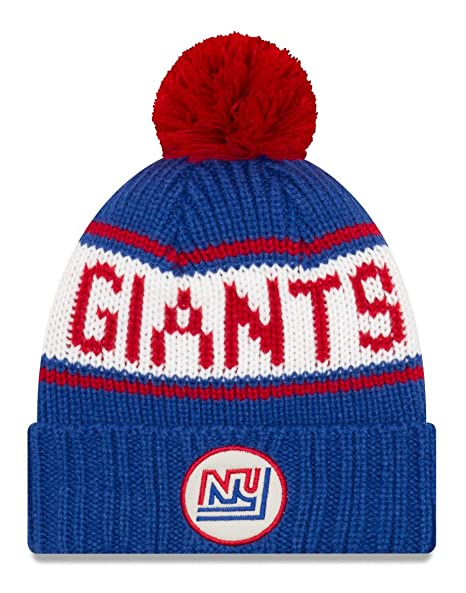 ce6bc5b590ef Image Unavailable. Image not available for. Color  New Era New York Giants  NFL 9Twenty Historic Retro Patch Cuffed Knit Hat