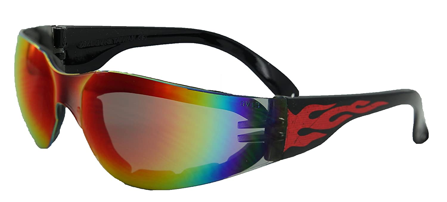 Amazon.com: Global Vision Gafas de sol Rider Flame Series ...