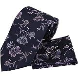 PH1026 Handmade Fabric Black Pattern Working Day Presents Silk Neckties Cufflinks Handkerchiefs Fathers Day Gifts By Epoint