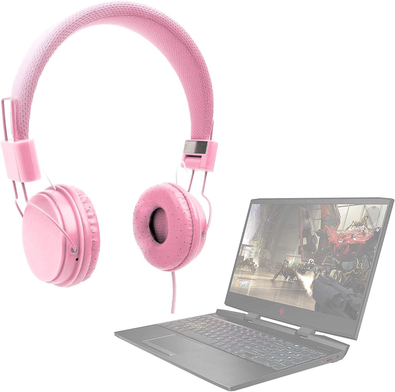 DURAGADGET Auriculares De Diadema Color Rosa Compatible con Portátil ASUS ROG Strix G731GT-AU008, ASUS TUF Gaming FX705DD-AU017, HP OMEN 15-dc1013ns, MEDION ERAZER P6705
