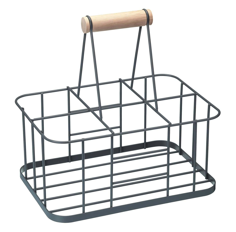 Kitchen Craft Living Nostalgia Metal Bottle Carrier Basket with Handle LNBCARRIER KitchenCraft