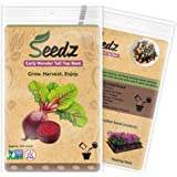 CERTIFIED NON-GMO SEEDS (Apr. 225) - Early Wonder Tall Top Beet Seeds - Heirloom Seeds - Untreated, Non Hybrid - USA Garden Seeds