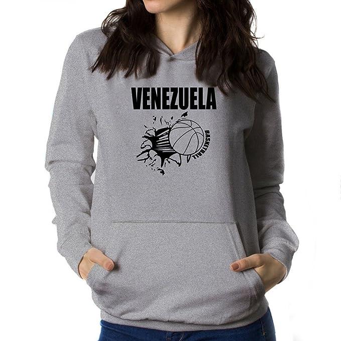 Teeburon Venezuela Basketball Sudadera con Capucha para Mujer: Amazon.es: Ropa y accesorios