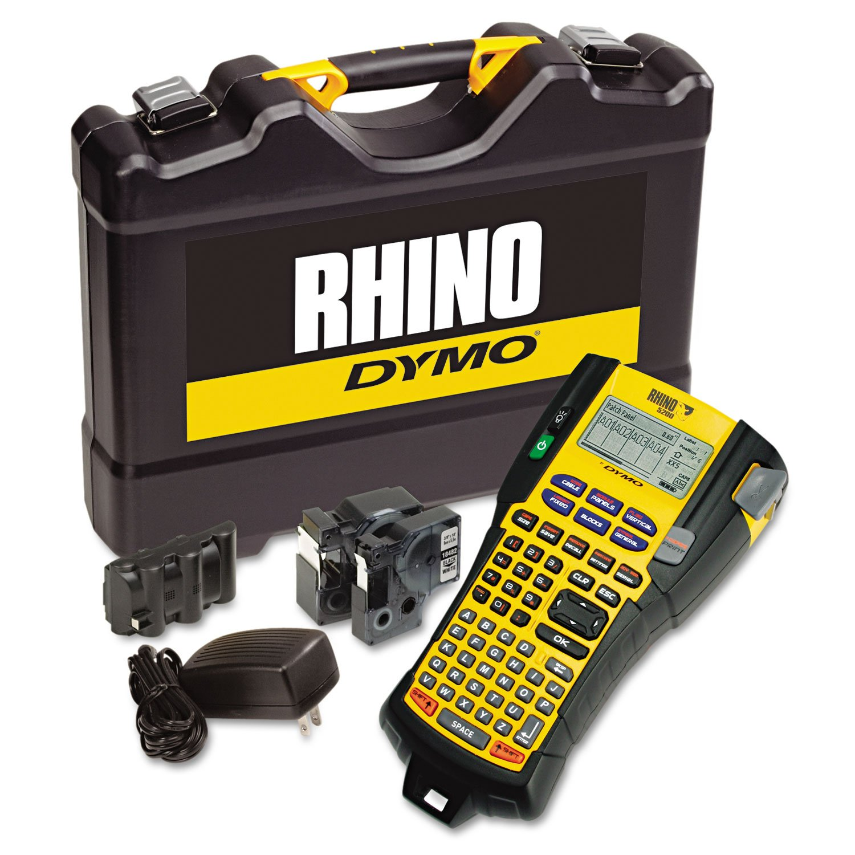 Color printing label maker - Dymo Rhino 5200 Industrial Label Maker Kit 5 Lines