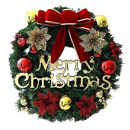 Amazon.com: Xmas Wreaths Decorative Pine needles Rattan Garlands ...