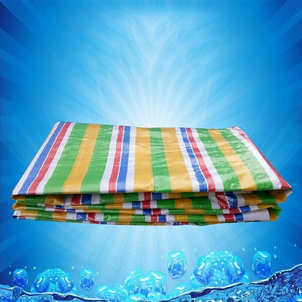 WDXJ Striscia di plastica Impermeabile di Tela Cerata di colore Spesso Panno Tessuto a Strisce Coloreate (Dimensioni   4m5m)