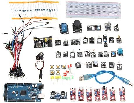 ILS – 37 en 1 Sensor Basic Kit Tarjeta módulo Starter Kit Aprendizaje Sensor para Arduino: Amazon.es: Electrónica