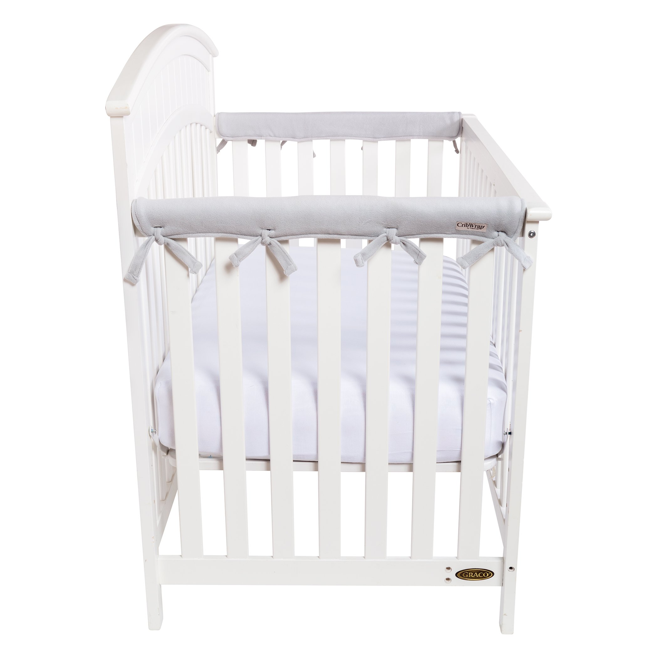 Trend Lab Waterproof CribWrap Rail Cover - For Narrow Side Crib Rails Made to Fit Rails up to 8'' Around. Pack of 2!