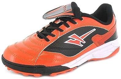 1a4b36599661 Boys/Childrens Orange Gola Astro Turf Trainers With Fold Over Tongue -  Orange/Black