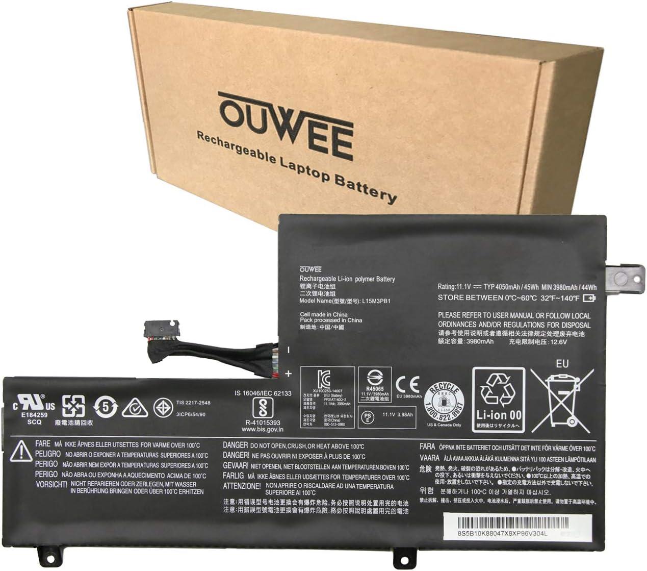 OUWEE L15M3PB1 Laptop Battery Compatible with Lenovo Flex 11 Chromebook S330 C330 N22 N22-20 N23 N42 N42-20 300E Chromebook Series 5B10K88047 5B10K88048 L15L3PB1 5B10K88049 SB18C15129 11.1V 45Wh