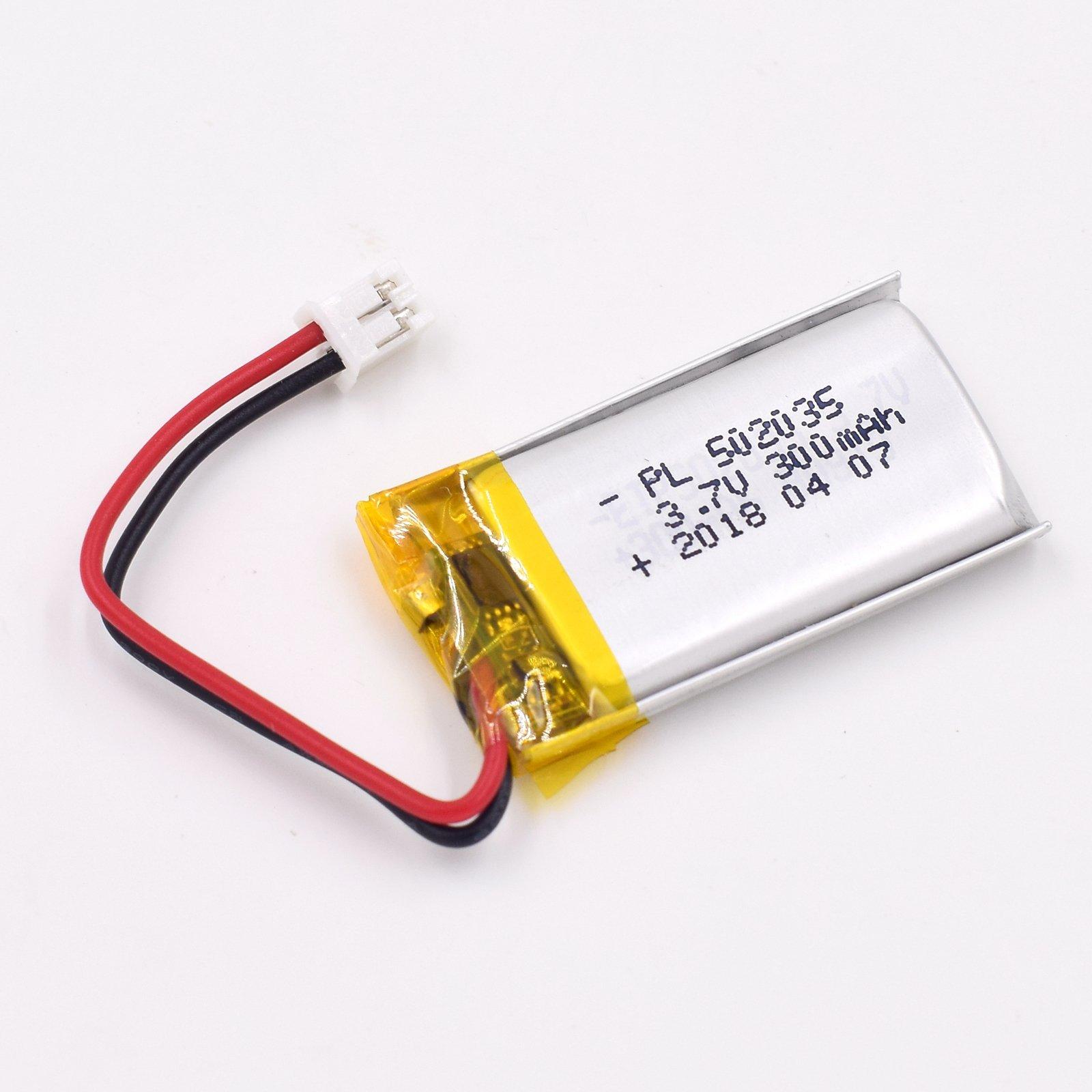 Bateria Lipo 3.7V 300mAh 502035 Recargable JST Conector