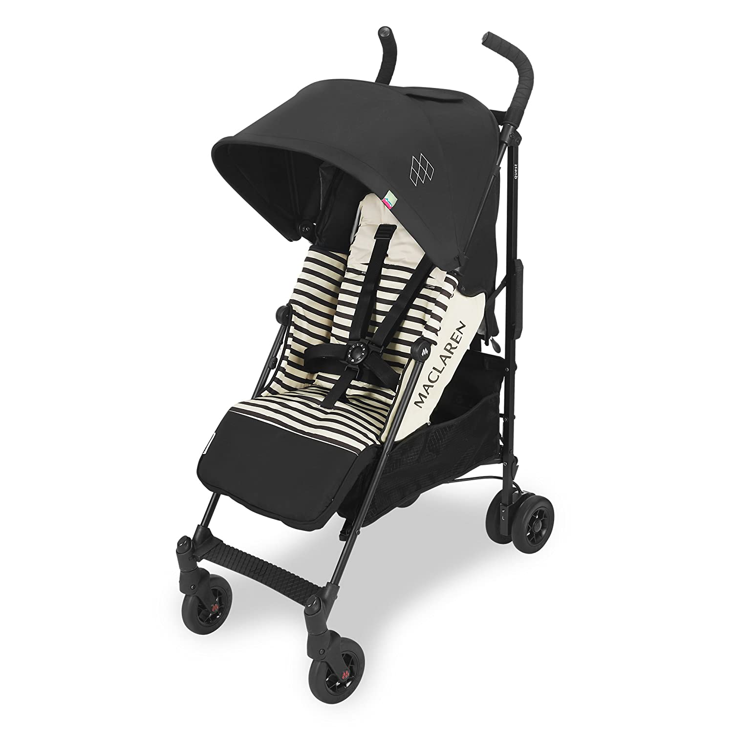 lightweight and compact extendable UPF50+//waterproof hood Newborn Safety System and compatible with Maclaren Carrycot accessories in the box Maclaren Quest Stroller- Full-featured