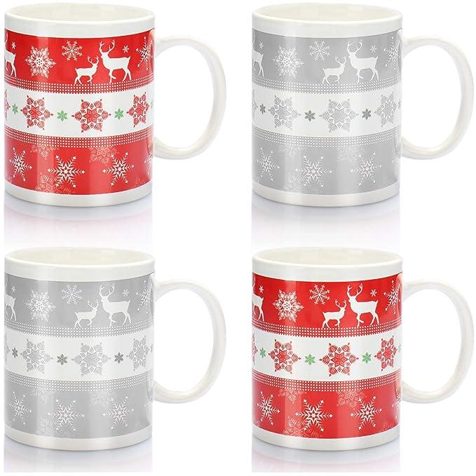 com-four® 4x Taza de café de cerámica - Taza de café con tema ...