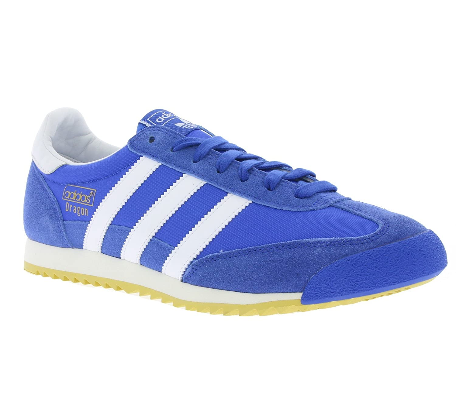 2018 Adidas Originals Blue White Kids Dragon Trainers Adidas