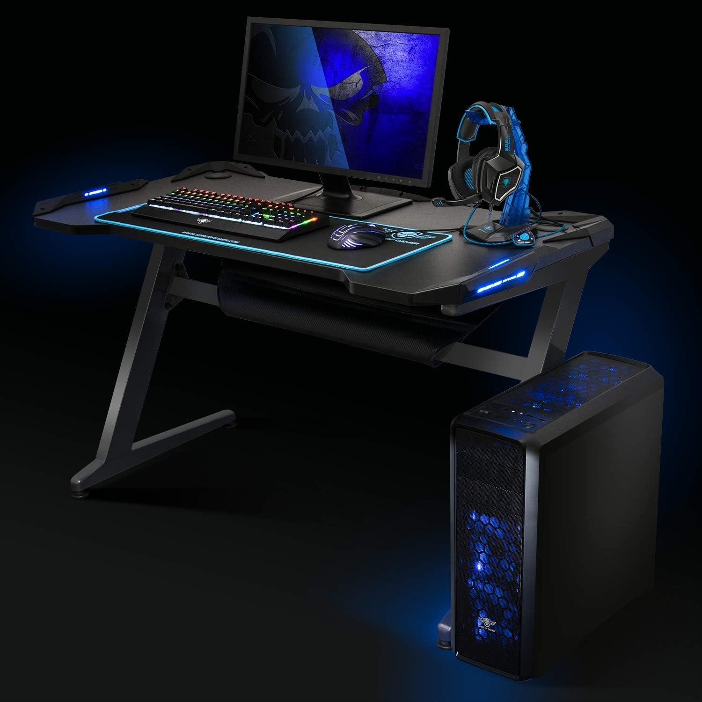 Spirit HEADQUARTER 100 Mesa Gaming Tablero Madera Maciza LUZ LED ...