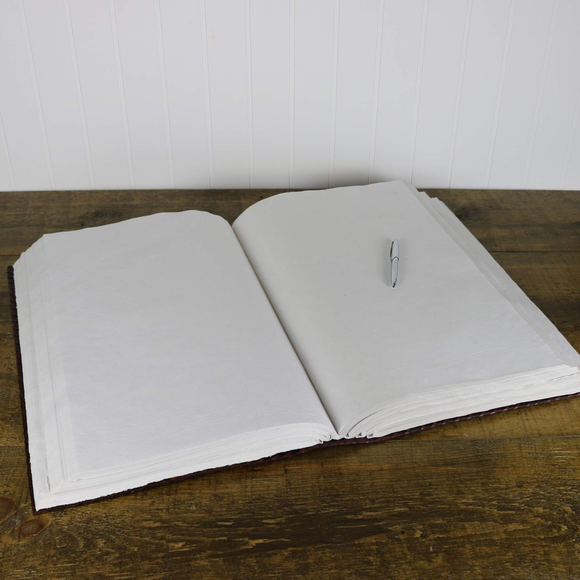 Seven Stone Leather Journal Handmade Notebook Unlined Blank 600 Pages 13 1/2 X 22 inches by  (Image #6)
