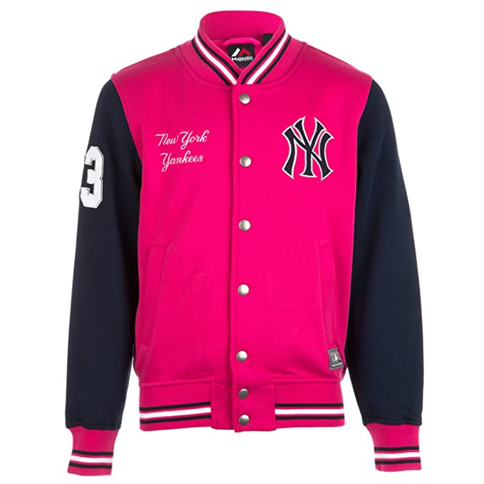 Majestic: chaqueta universitaria de los New York Yankees para chica (rosa)