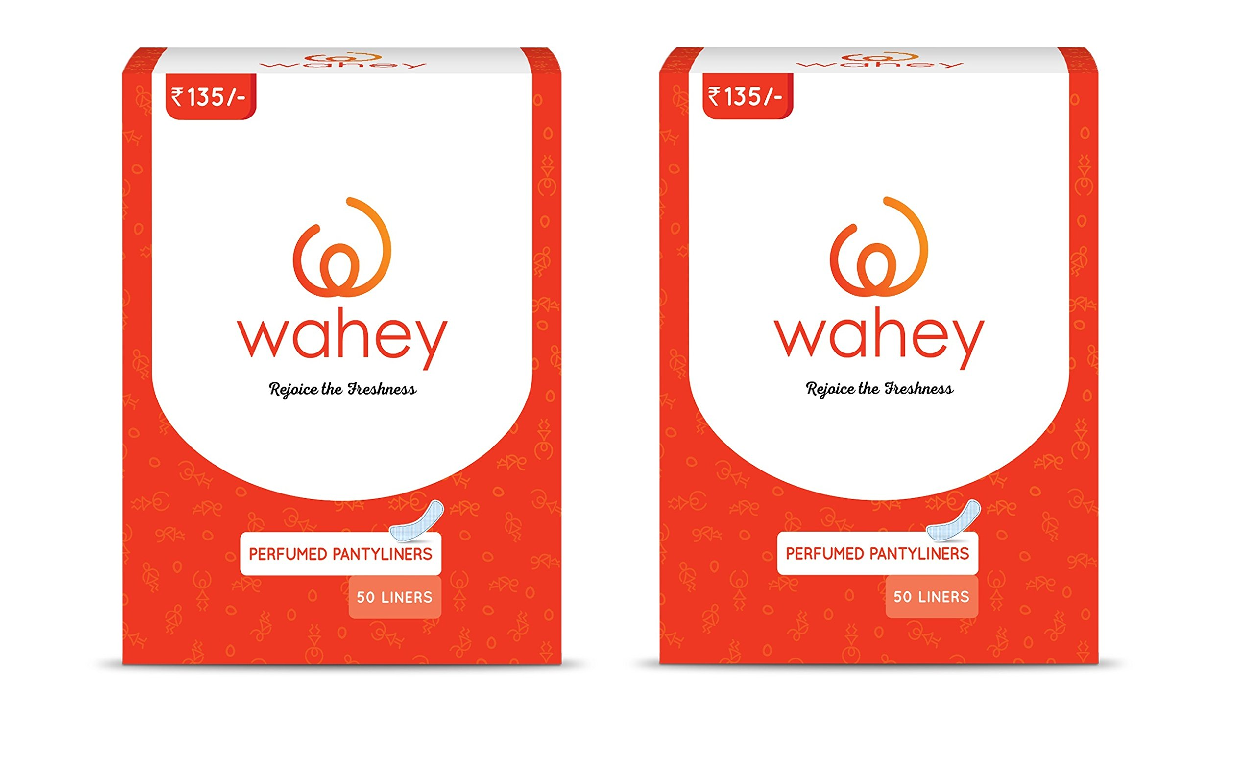 Wahey Perfumed Panty Liners/Pantyliners With Cottony Covering, Pack Of 2 (100 pcs) product image