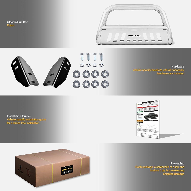Matte Black//Brush Aluminum Skid Plate For 2007-2020 Toyota Tundra 2008-2020 Sequoia Stehlen 714937182516 3 Classic Series Bull Bar