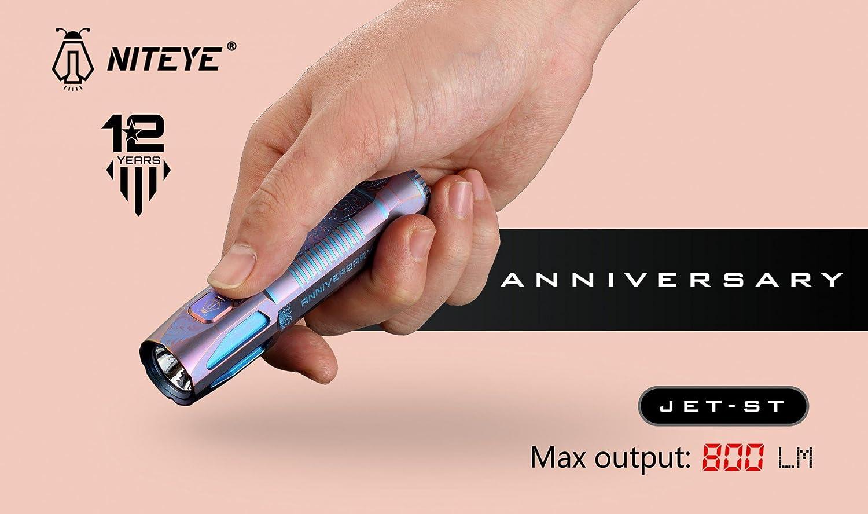 Niteye Jet ST limitierte 18650er Taschenlampe aus Titan - Sonderpreis