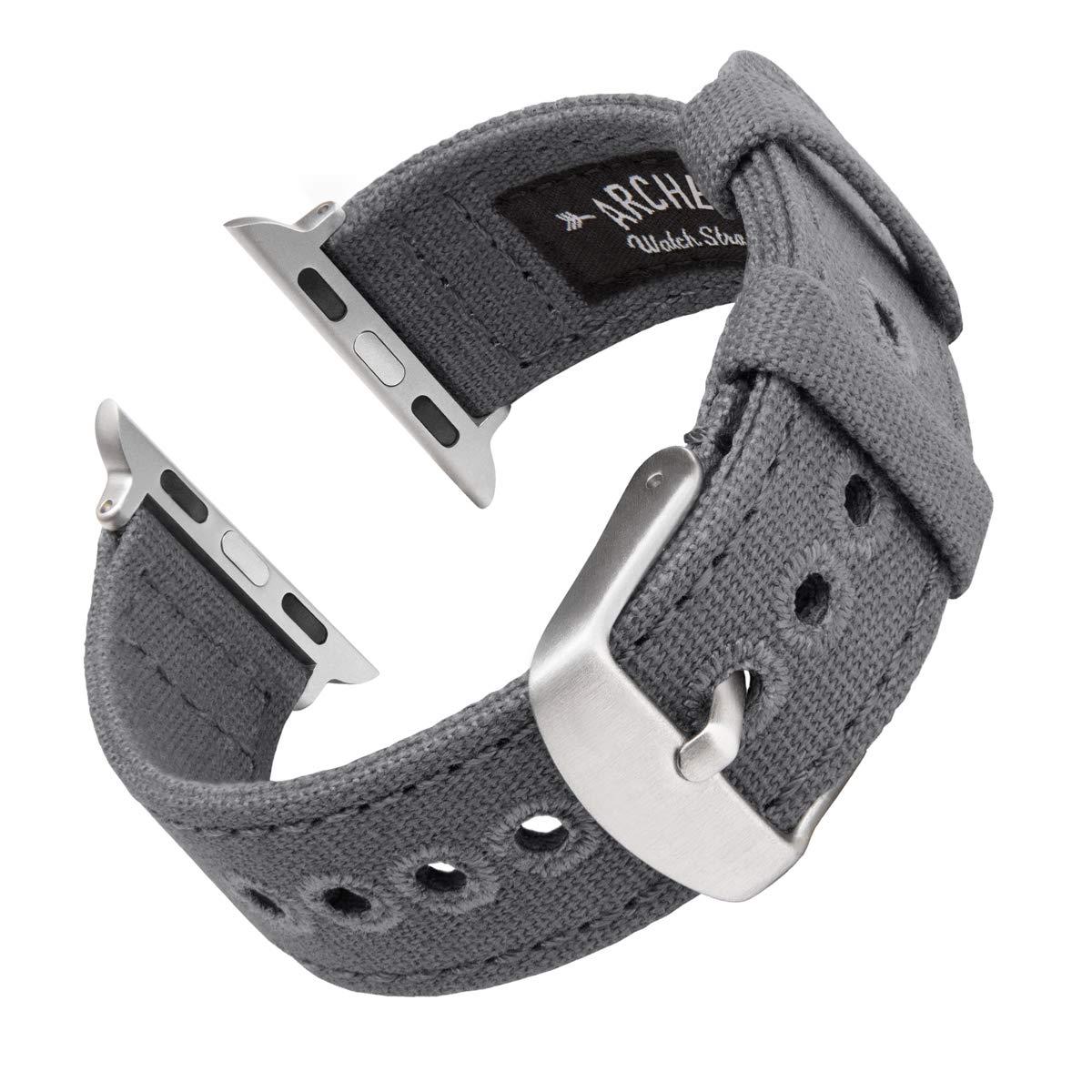 Archer Watch Straps - Canvas Uhrenarmband für Apple Watch | Mehrere Farben, 38/40 mm, 40/42 mm