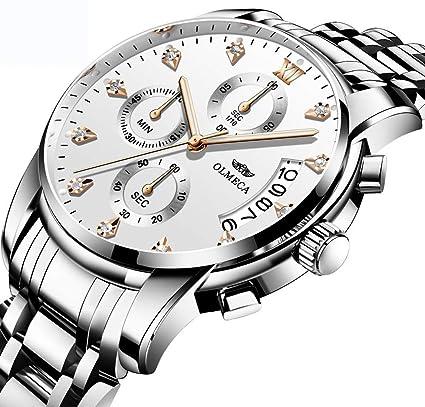 YWHY Relojes Marca Relojes Militares Relojes 3Atm Relojes A Prueba De Agua Cronógrafo Relojes De Pulsera