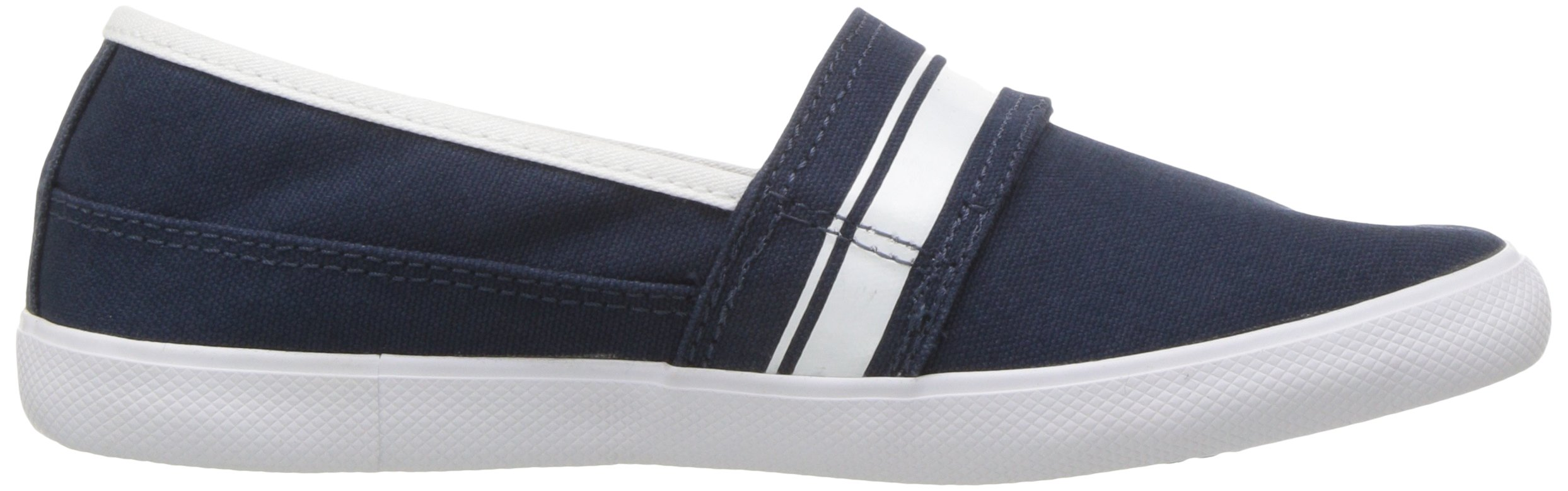 Lacoste Kids' Marice Slip-ONS,Navy/White Cotton Canvas,13. M US Little Kid by Lacoste (Image #6)