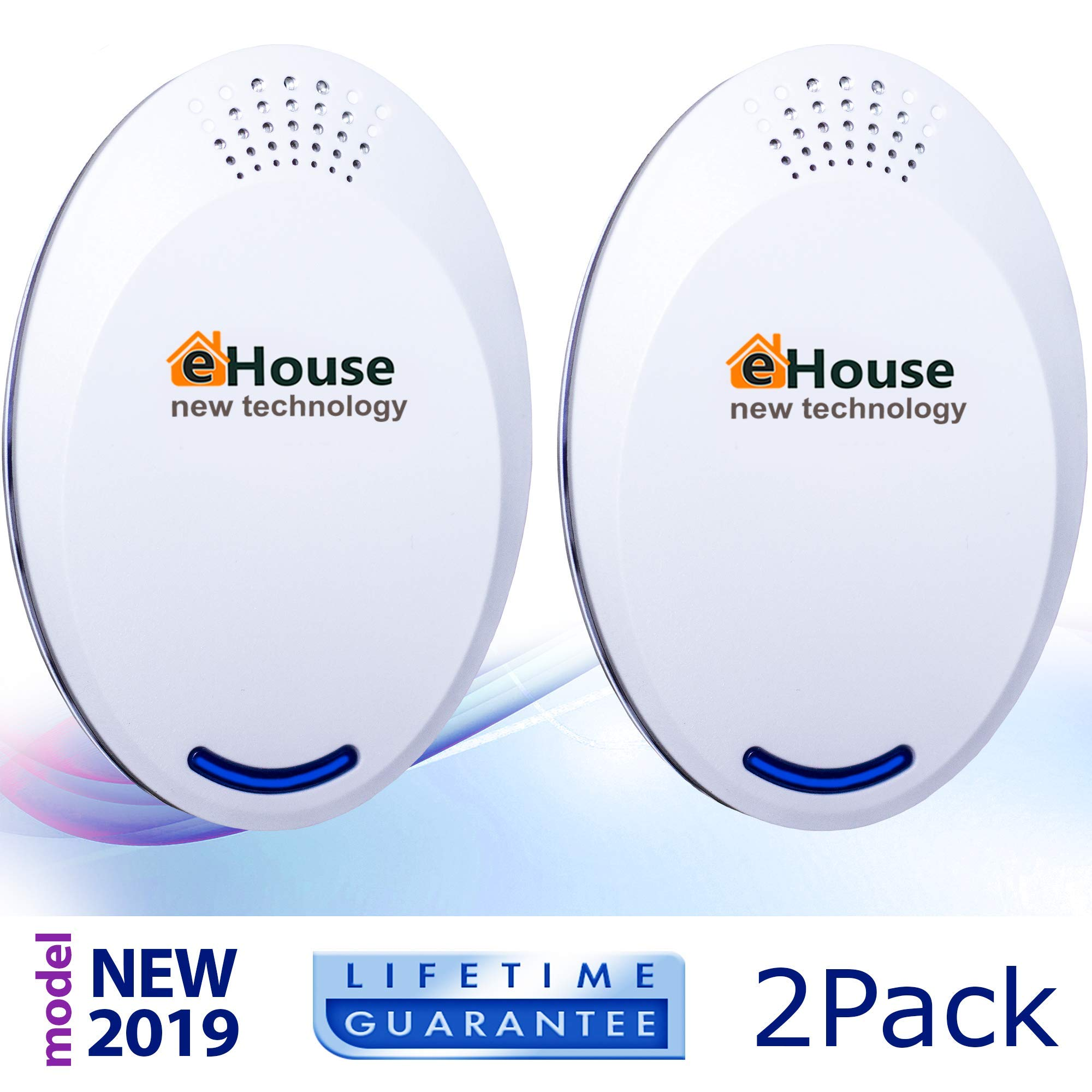 Ultrasonic Electronic Repellent - Best Plug in - Get Rid Of - Rodents, Squirrels, Mice, Rats, Bats, Insects - Roaches, Spiders, Fleas, Bed Bugs, Flies, Ants, Mosquitos, Fruit Fly! 2Pack (Model BH4) by EHOUSE