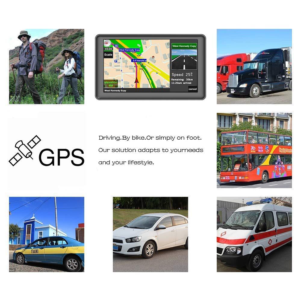 LHNA Navigazione GPS Universale Navigatore per Auto 7 Pollici Multi-Touch Screen Speed Camera Telecamera di retromarcia Mappe del Mondo a Vita Indicatore di Corsia Avanzato