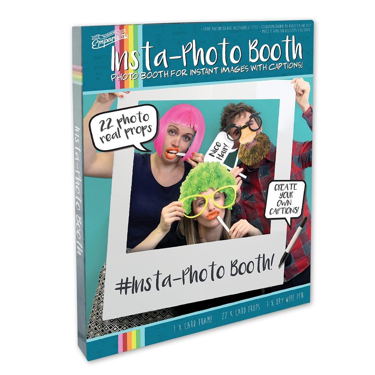 Insta-Photo Booth, aus Pappe, mit 22 Accessoires: Amazon.de ...