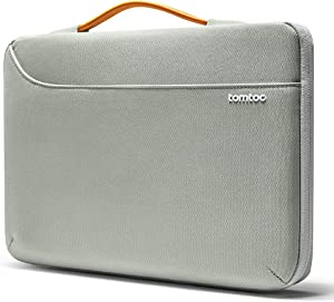 tomtoc 360 Protective Laptop Sleeve Fit 13.5 Inch Microsoft Surface Book 1 & 2, Surface Laptop 1 & 2, Notebook Case Handbag for 13 Inch Asus Zenbook, HP ENVY, Lenovo IdeaPad 900/700/300, Cordura Fiber