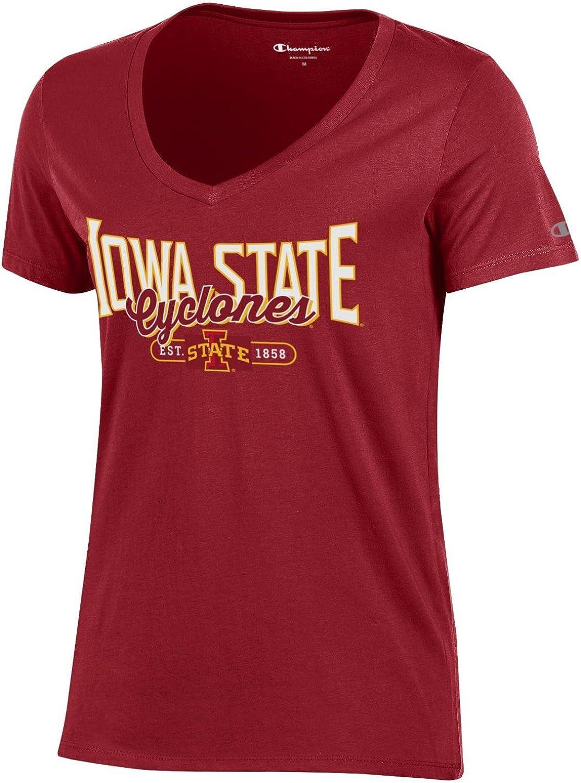 Champion NCAA Womens University Short Sleeve Tag less Ladys V Neck Tee