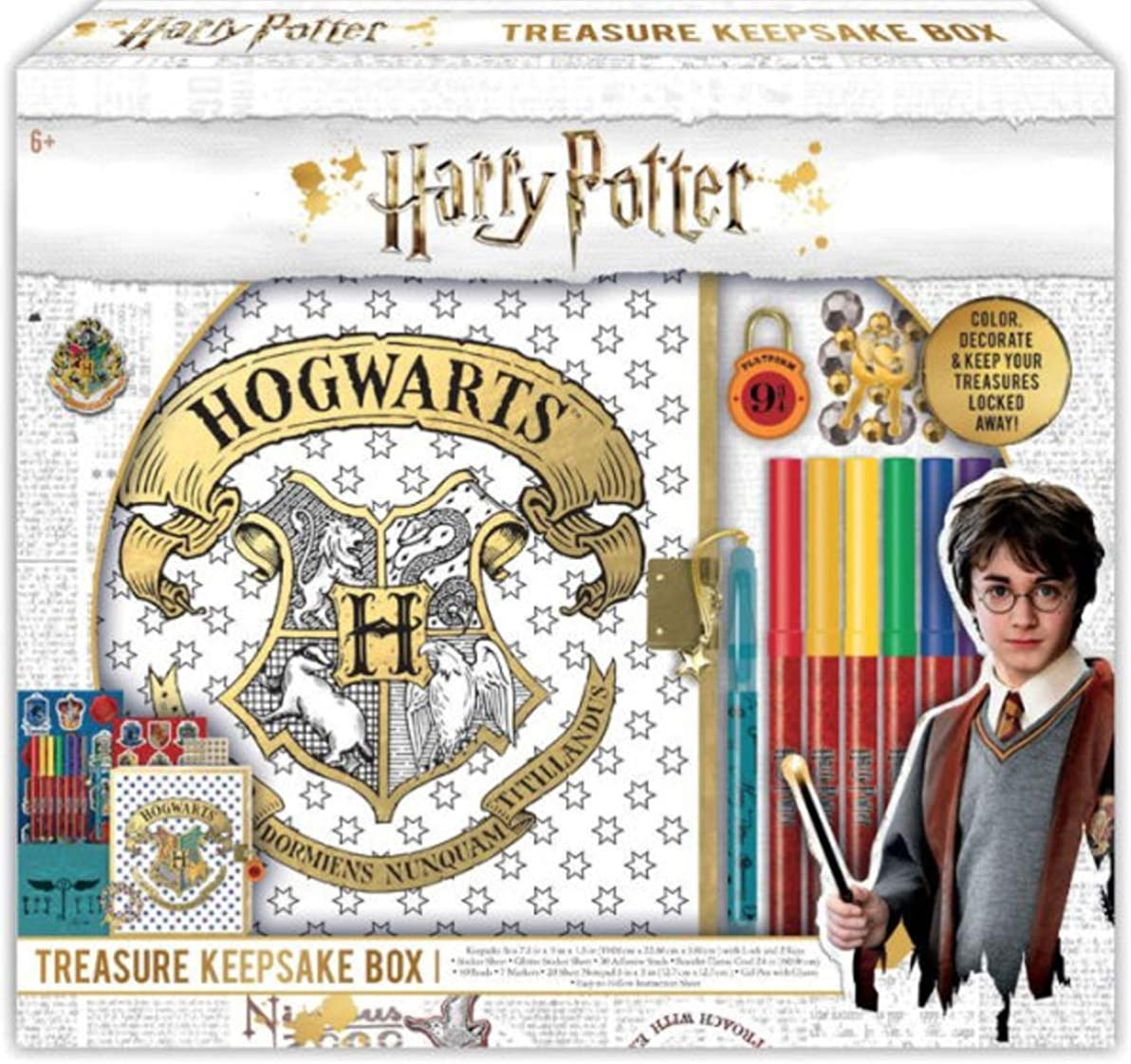 "Harry Potter- Boys' 701722HP, White, 5"" x 5"""
