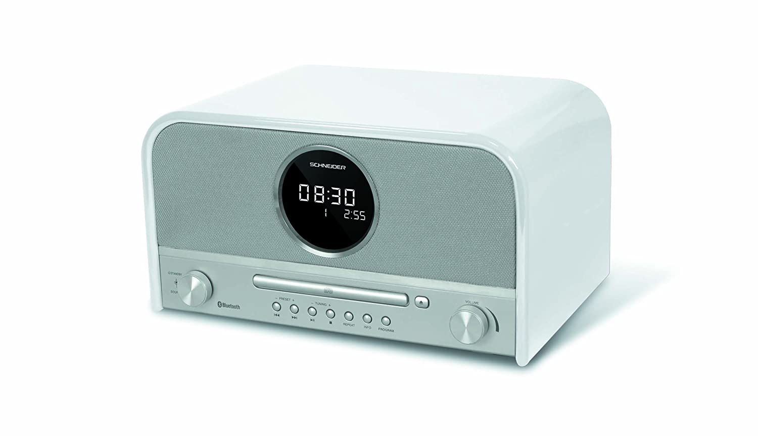 Schneider SC700MCCD Feelings - Micro Cadena diseñ o Vintage (CD, MP3, Bluetooth) Color Blanco 3527570047572