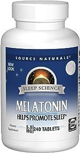 Source Naturals Sleep Science Melatonin 5 mg Helps Promote Sleep - 240 Tablets